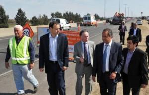 Avanzan obras de repavimentación en la Autopista