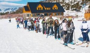 El frío reavivó las expectativas en los centros de esquí