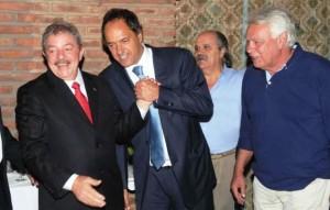 Scioli con agenda exterior: Evo, Lula y Felipe