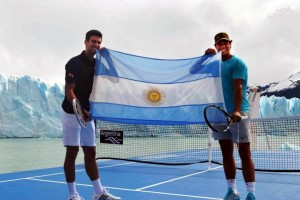 Nadal y Djokovic deslumbraron a orillas del glaciar Perito Moreno