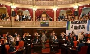 Senadores bonaerenses juraron en la sesión preparatoria