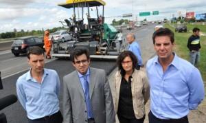 Comenzó la construcción del tercer carril en la Autopista