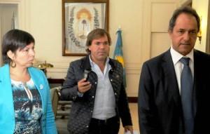 Scioli definía con Pérez y Batakis la propuesta a docentes