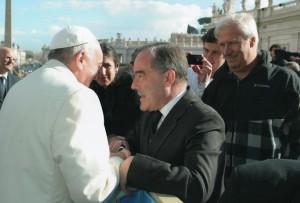 El rector de la Universidad Catolica fue recibido por el Papa