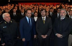 Scioli volvió a poner el foco en la seguridad al inaugurar una escuela de formación policial