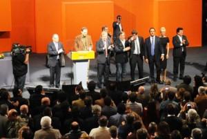 Scioli protagonizó un velado lanzamiento de campaña