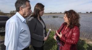 Vidal, en Lobos, le pego al Gobierno por el estado del Río Salado