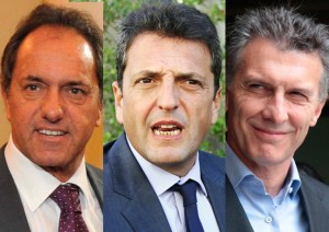 Encuesta ubica a Massa por encima de Scioli y a Macri más cerca