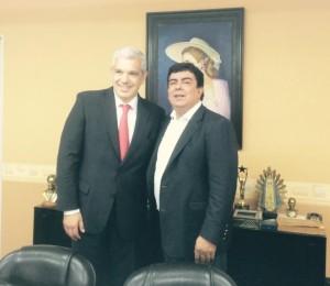 Domínguez se reunió con Espinosa para ajustar su plan en la Provincia