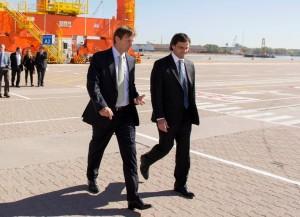 El titular de la Aduana visitó la nueva terminal de contenedores del Puerto La Plata