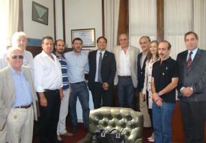Borgini mantuvo un encuentro con representantes del Partido Socialista español