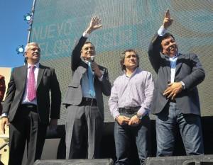 Randazzo pisó la Provincia y se mostró con dos candidatos