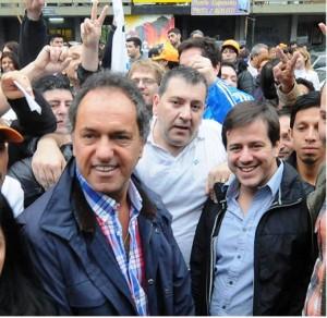 Scioli salió a remar la campaña en Ciudad de Buenos Aires