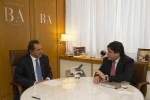 Scioli y Zannini se mostraron juntos para definir acciones de campaña