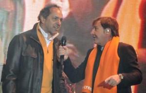 Montaner le puso voz al jingle de campaña de Scioli