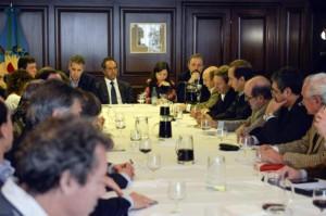 Scioli se reunió con el campo para definir políticas tras las inundaciones
