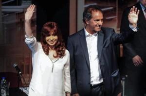 Cristina esta vez le dio lugar a Scioli y lanzó críticas a Macri
