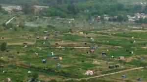 La toma de tierras en Merlo agita fantasmas en la Provincia