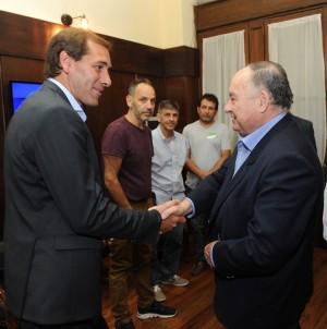 El intendente Julio Garro y el presidente de la Cámara de Comercio e Industria de La Plata, Juan Carlos Piancazzo.