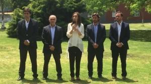 En medio de la incertidumbre por los aguinaldos, Vidal presentó equipo