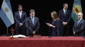 """Vidal le tomó juramento al """"gabinete que soñaba"""""""