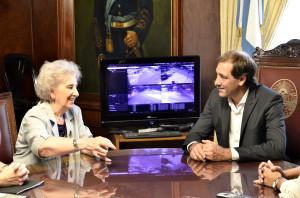 """Garro se reunió con Estela de Carlotto y destacó """"su lucha"""""""