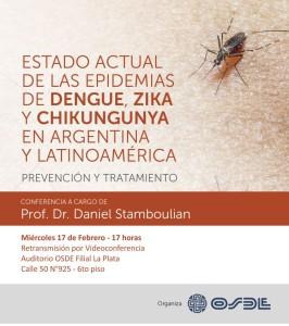 Charla sobre dengue, zika y chikunguya en OSDE La Plata