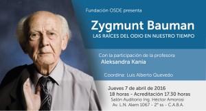 Charla del sociólogo Zygmunt Bauman, en la Fundación Osde