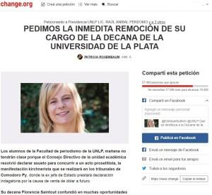 Más de 50 mil firmas para remover a Saintout del decanato de Periodismo