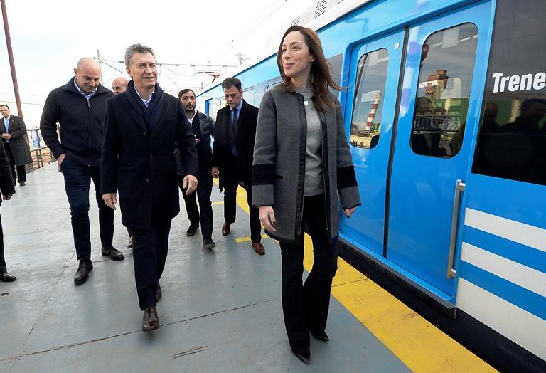 Vidal y Macri encabezan el acto de inauguración de los 6 km. del ramal Roca que separan a Quilmes de Berazategui.