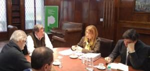 Elustondo recibió a Debora Giorgi por obras para La Matanza