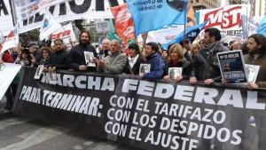 Jornada de movilizaciones y paros contra el Gobierno