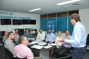 Garro se reunió con concejales para mostrar qué hizo el Municipio tras el temporal