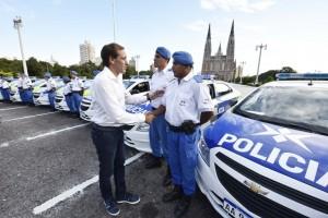 Garro y Ritondo presentaron patrulleros para reforzar la Policía Local