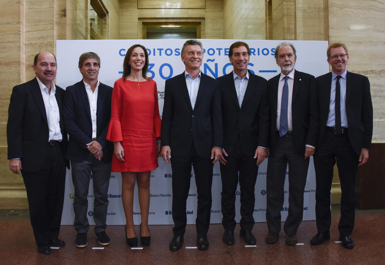 Macri y Vidal . Créditos hipotecarios