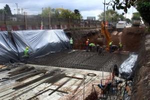 Ponen en marcha las últimas obras del derivador de Avenida 31
