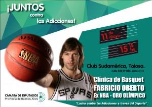 Oberto dará una clínica de básquet en La Plata