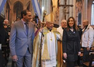Cartón lleno: no faltó nadie al tedeum por el 25 de Mayo en la Catedral