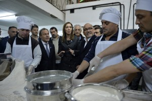 Gustavo Ferrari y María Eugenioa Vidal en la cárcel de Olmos