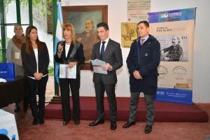 "Presentan en La Plata el sello postal en homenaje a ""Almafuerte"""