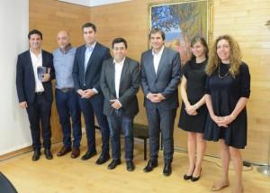 Diputados bonaerenses visitaron al alcalde argentino de Barcelona