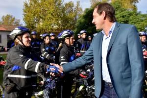 Garro incorporó 60 nuevos bicipolicías