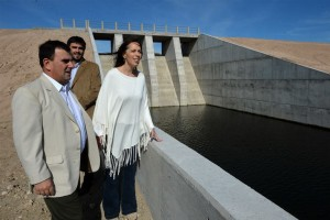 Vidal se mostró con Galli en la inauguración de una presa en Azul