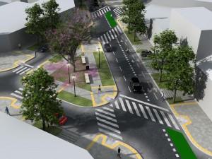 Diagonal 76, globo de ensayo con prioridad para peatones y ciclistas