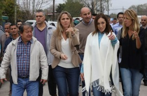 Vidal y una recorrida por Quilmes marcada por la campaña