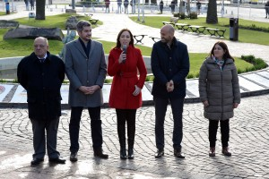 Vidal apeló a la grieta en la presentación del Metrobús