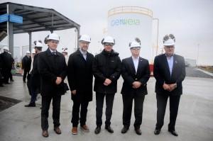 Aranguren y Perechodnik inauguraron obras en una central térmica