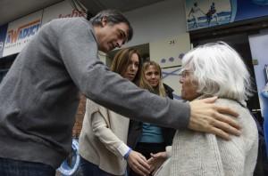 Vidal salió de recorrida con los candidatos