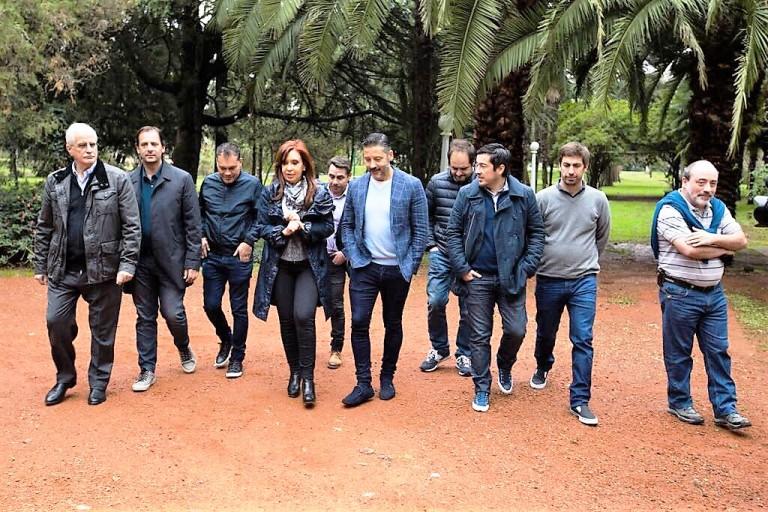 Cristina Kirchner con intendentes del Conurbano Norte