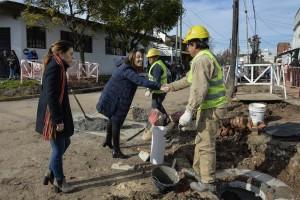 Vidal recorrió obras en territorio randazzista